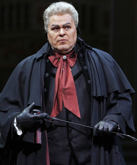 Baron Scarpia (Mark Delevan), evil incarnate