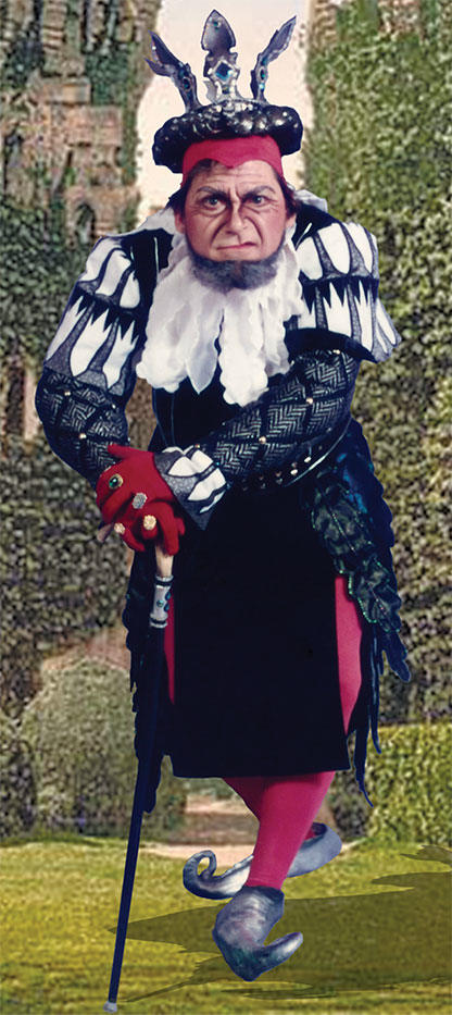 Rick Williams as King Gama; Photo by Irene Jerome