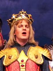 Robby Stafford as King Hildebrand; photo by Lucas Buxman