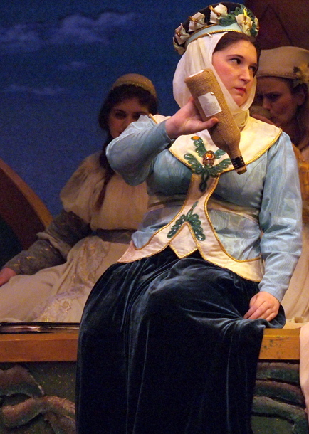 Rose Frazier as Lady Psyche; photo by Lucas Buxman