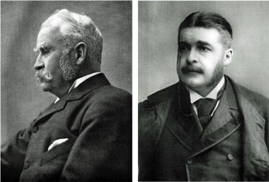 W. S. Gilbert and A. S. Sullivan; photo courtesy Wikimedia Commons