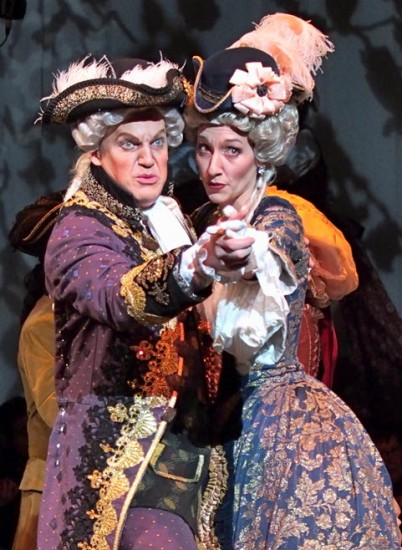 Robby Stafford as Sir Marmaduke and Megan Stetson as Lady Sangazure