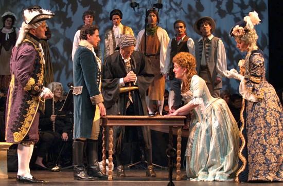 05 Robby Stafford as Sir Marmaduke, Robert Vann as Alexis, James MacIlvaine as the notary, Lindsay Thompson Roush as Aline and Megan Stetson as Lady Sangazure