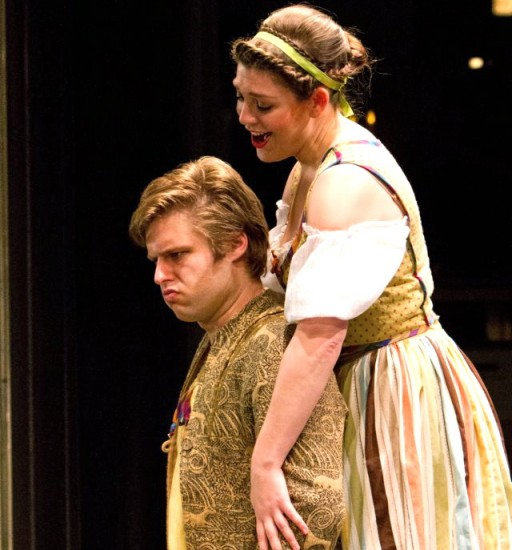 Jordan Eldredge as Masetto and Molly Mahoney as Zerlina