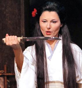 Cio-Cio San (Svetla Vassileva - SFOpera) contemplates hara-kiri