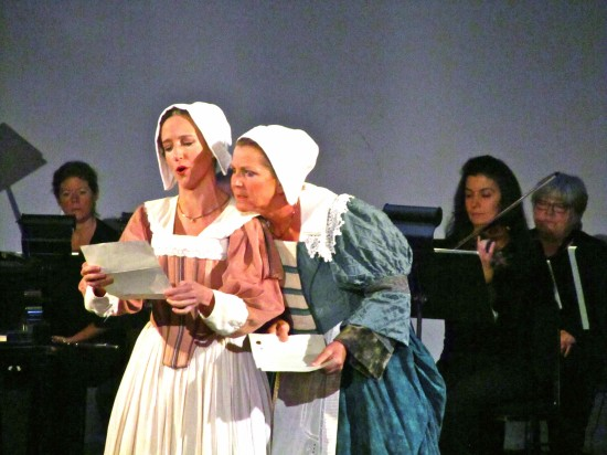 Meghan Dibble as Meg Page and Marcelle Dronkers as Alice Ford