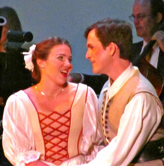 Anne Page (Molly Wilson) and Master Fenton (Jonathan Smucker)