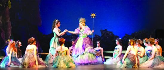 The Fairy Queen (Sonia Gariaeff) forgives Iolanthe (Molly Mahoney)