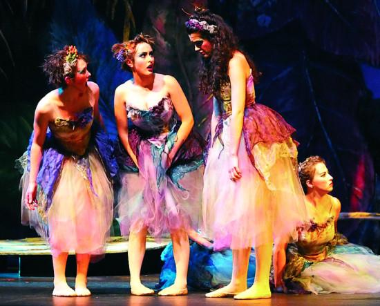 Fleta (Susanna Ketron), Leila (Maayan Voss De Bettencourt), and Celia (Lizzie Moss)