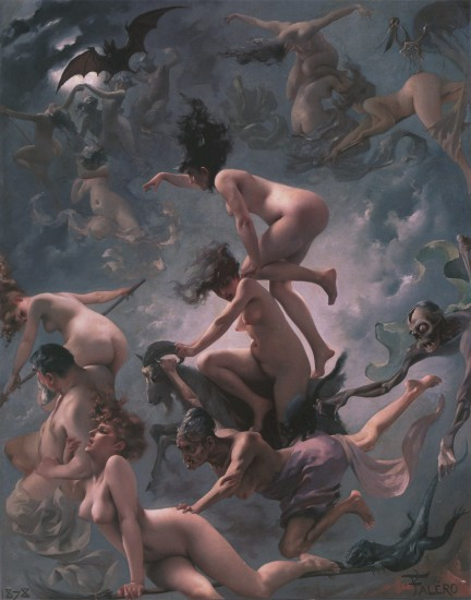 Program Cover: Witches going to their Sabbath by Luis Ricardo Falero (1851-1896); photo courtesy Wikimedia