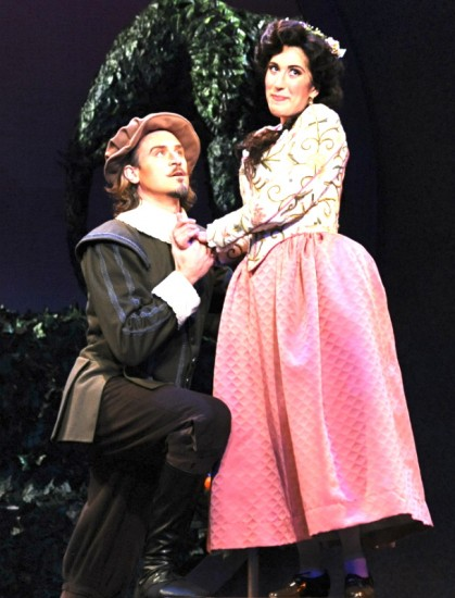 Marc Schreiner as Fenton and Sara Duchovnay as Nannetta
