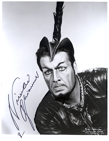 Nicolai Ghiaurov; photo courtesy Classical Autographs