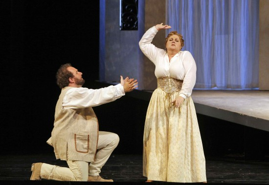 Ambrogio (A. J. Glueckert) and Berta (Catherine Cook)