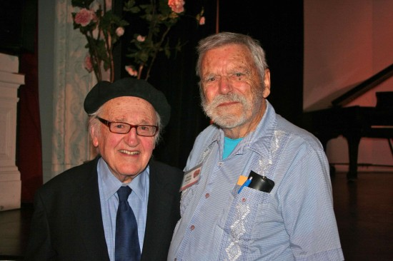 Donald Pippin (Artistic Director) and Philip Hodge (Opera Nut); photo by Cate Gerrity